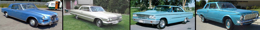 1963 Chevy Impala, 1963 Stedebaker, 1963 Ford, 1963 Plymouth